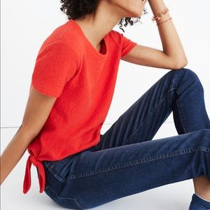Madewell Texture & Thread Modern Side-Tie Top Med